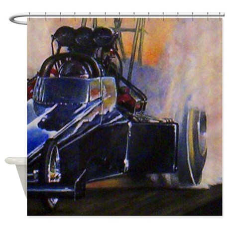 Auto racing shower curtain by listing store 112460909 for Race car shower curtain