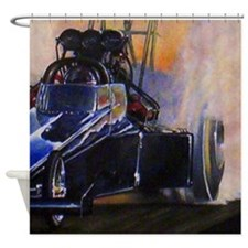 Auto Racing Shower Curtain