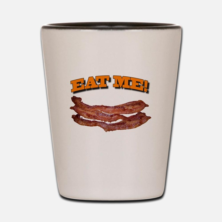 Cute Eating bacon Shot Glass