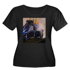 Auto Racing Plus Size T-Shirt