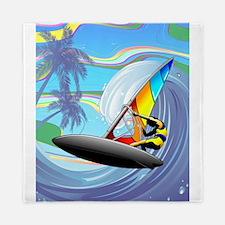 Windsurfer on Ocean Waves Queen Duvet