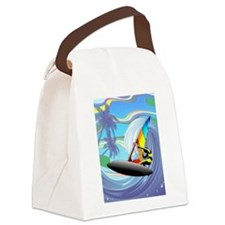 Windsurfer on Ocean Waves Canvas Lunch Bag