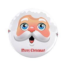 "Customizable Santa 3.5"" Button"
