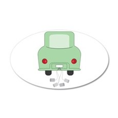 Just Married Car Wall Decal