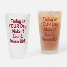 Make It Count Drinking Glass