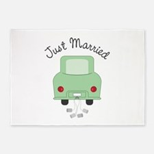 Just Married 5'x7'Area Rug