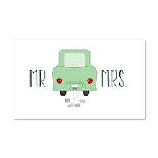 Mr & Mrs Car Magnet 20 x 12
