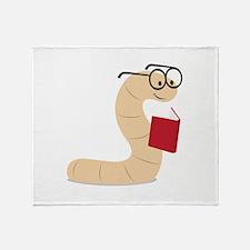 Book Worm Throw Blanket