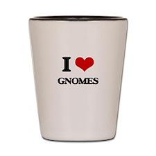 I Love Gnomes Shot Glass