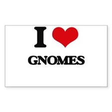 I Love Gnomes Decal