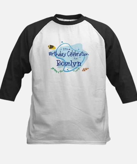 Celebration for Roselyn (fish Kids Baseball Jersey