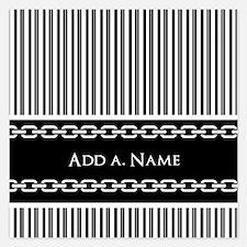 Custom Black and White Stri Invitations