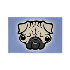 Googly Pugly Rectangle Magnet