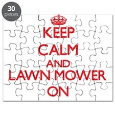 Keep Calm and Lawn Mower ON Puzzle
