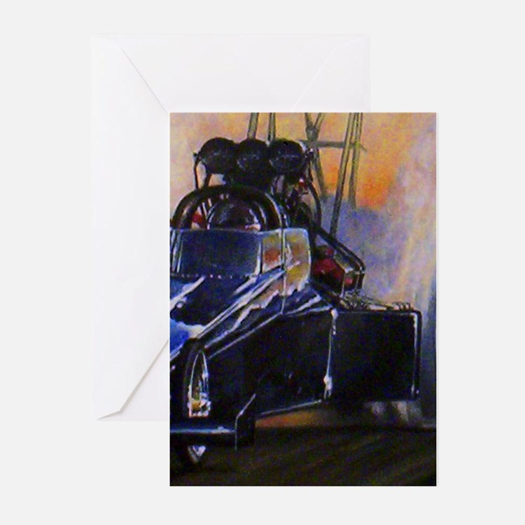 Auto Racing Greeting Cards