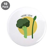 """Veggie Love 3.5"""" Button (10 pack)"""
