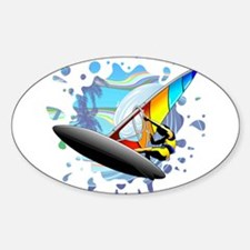 Windsurfer on Ocean Waves Decal