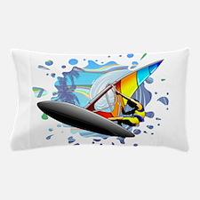 Windsurfer on Ocean Waves Pillow Case