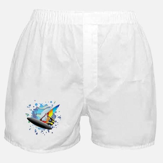 Windsurfer on Ocean Waves Boxer Shorts