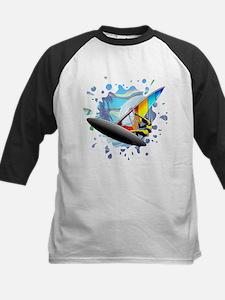 Windsurfer on Ocean Waves Baseball Jersey