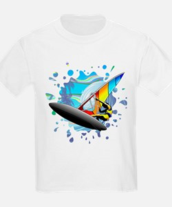 Windsurfer on Ocean Waves T-Shirt