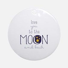 To The Moon Ornament (Round)