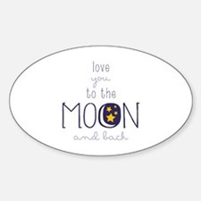To The Moon Decal