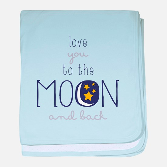 To The Moon baby blanket