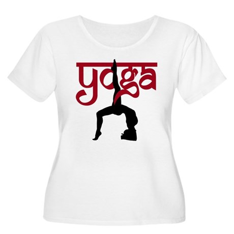 Yoga One-Legged Bridge Pose Women's Plus Size Scoo