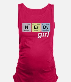 N Er Dy - Nerdy Girl Maternity Tank Top