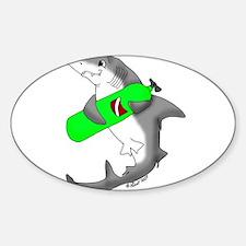 SCUBA shark Oval Decal