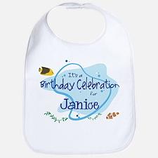 Celebration for Janice (fish) Bib