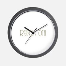 Rock On Wall Clock