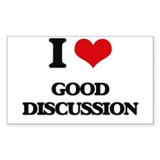 I Love Good Discussion Decal