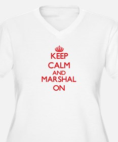 Keep Calm and Marshal ON Plus Size T-Shirt