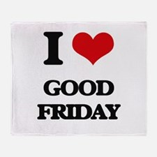 I Love Good Friday Throw Blanket