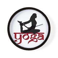 Yoga One-Legged King Pigeon Pose Wall Clock