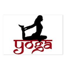 Yoga One-Legged King Pigeon Pose Postcards (Packa