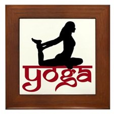 Yoga One-Legged King Pigeon Pose Framed Tile