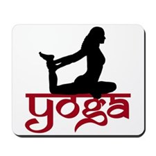 Yoga One-Legged King Pigeon Pose Mousepad