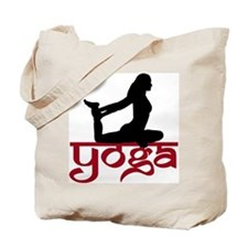Yoga One-Legged King Pigeon Pose Tote Bag