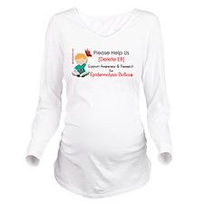 Delete Eb Long Sleeve Maternity T-Shirt