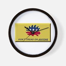 Don't Tread On Anyone Wall Clock
