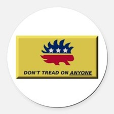 Don't Tread On Anyone Round Car Magnet