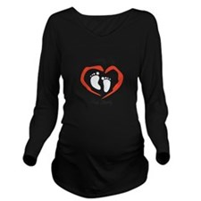 Growing And Strong Long Sleeve Maternity T-Shirt