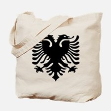 Albanian Eagle Emblem Tote Bag