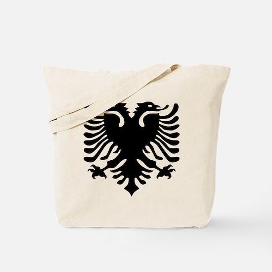 Albanian Eagle Emblem Tote Bag