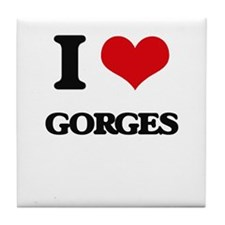 I Love Gorges Tile Coaster