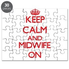 Keep Calm and Midwife ON Puzzle