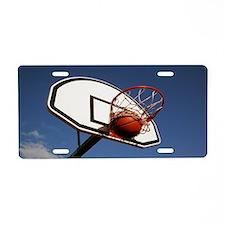 Basketball Aluminum License Plate